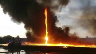 Tornado de fuego en Derbyshire, Inglaterra
