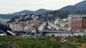 Puente que colapso en la ciudad italiana de Génova