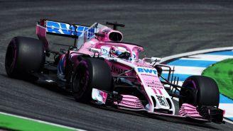 Checo Pérez durante el Gran Premio de Alemania