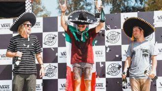 Jason Watts al ganar el Vans BMX Pro Cup