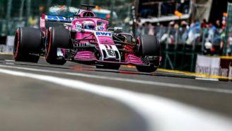 Monoplaza de Checo Pérez en el Gran Premio de Bélgica