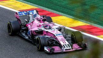 Sergio Perez durante GP de Bélgica
