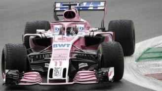 Sergio Pérez durante el Gran Premio de Italia