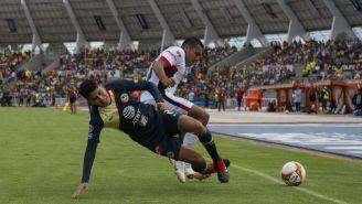 Carlos Vargas durante el partido entre América y Lobos BUAP