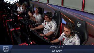 La alegría en los jugadores de Infinity tras superar a Predators Esports