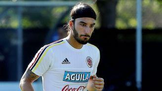 Sebastián Pérez en entrenamiento con Colombia