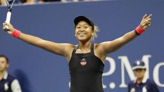 Naomi Osaka festejando su pase a la Final