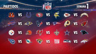 EN VIVO Y EN DIRECTO: Semana 1 de la NFL