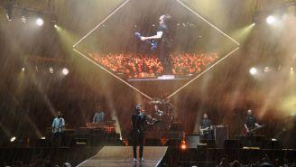 La banda de rock Foo Fighters durante un concierto