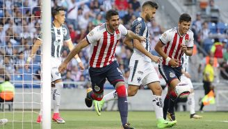 Pereira celebra un gol ante Monterrey en el A2017