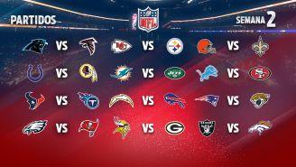 EN VIVO Y EN DIRECTO: NFL Semana 2 domingo