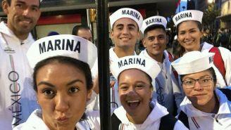 Deportistas mexicanos participaron con el Ejército y la Marina