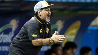 Armando Maradona, durante su debut con Dorados