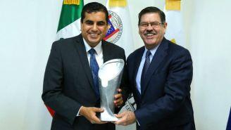 Rogelio Garza en la presentación de la Copa UANL