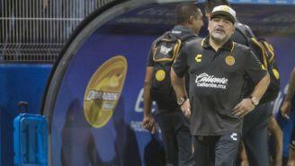 Maradona durante su partido debut con Dorados