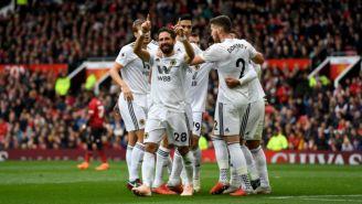 João Moutinho celebra su gol frente al Man Utd