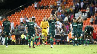 Real Betis al término del encuentro contra el Valencia