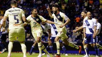 América festeja gol de Oribe Peralta