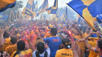 Seguidores de Tigres previo al Clásico Regio del A2018