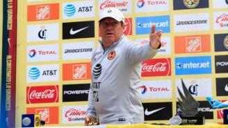 Miguel Herrera, en conferencia de prensa en Coapa