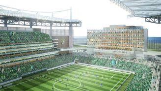 Render del nuevo estadio del León