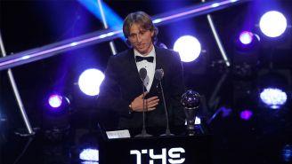 Luka Modric, tras recibir el premio The Best al mejor jugador del año
