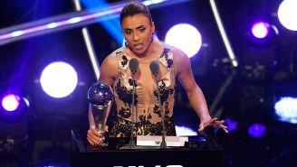 Marta, durante sus palabras tras recibir el premio The Best