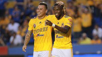 Enner Valencia festeja su gol