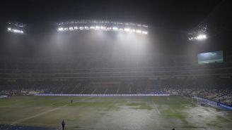 El Estadio BBVA durante la lluvia