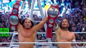 Matt y Jeff Hardy en Wrestlemania 34