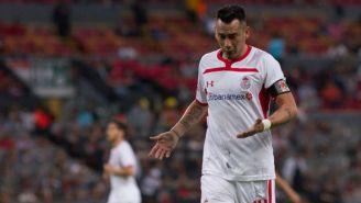 Rubens Sambueza se lamenta tras ser expulsado contra Atlas