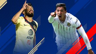 Oribe y Zaldívar festejan gol con América y Chivas, respectivamente