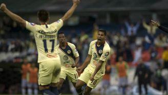 Domínguez celebra anotación en duelo de Copa MX