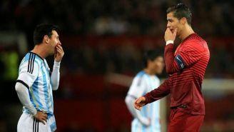 Messi junto a Cristiano Ronaldo