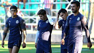 Oswldo Alanís, durante un entrenamiento en su paso por Chivas