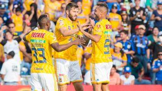 Tigres celebra victoria en la Liga MX