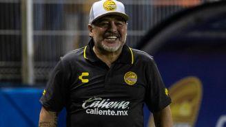 Maradona en partido ante Cafetaleros