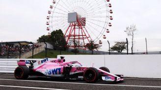 Sergio Pérez, en las prácticas libres del GP de Japón