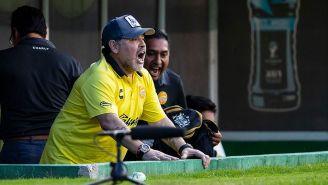 Maradona previo a un partido con Dorados