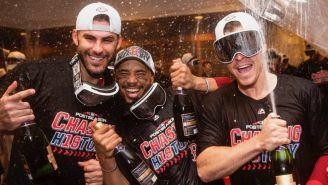 Boston celebra tras conseguir su pase a la Serie de Campeonato
