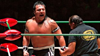 Último Guerrero en una lucha en la Arena México
