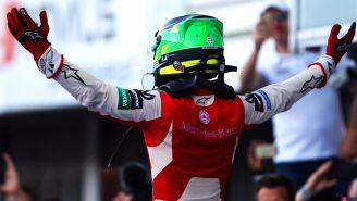 Mick Schumacher celebra tras conseguir campeonato de F3