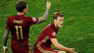 Kokorin y Mamaev en un partido con Rusia