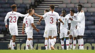 Portugal celebra una anotación frente a Escocia