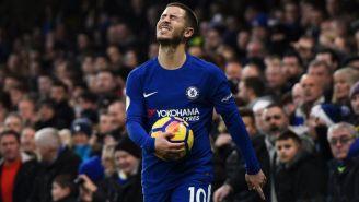 Eden Hazard lamenta error en un duelo con el Chelsea