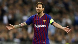 Lionel Messi durante un partido ante el Tottenham