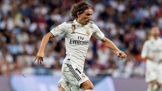 Modric en un partido con el real Madrid
