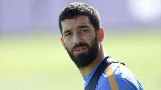 Arda Turan el entrenamiento con Barcelona