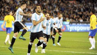Gabriel Mercado celebra una anotación frente a Brasil