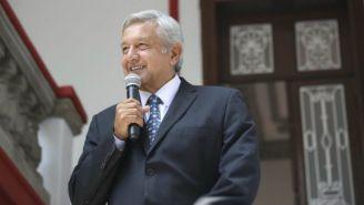 Andrés Manuel López Obrador durante un discurso